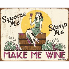 Moore - Make me Wine Tin Sign