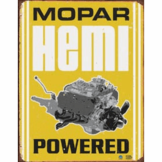 Mopar - Hemi Powered Tin Sign
