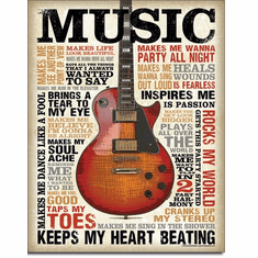 Music Inspires Me Tin Signs