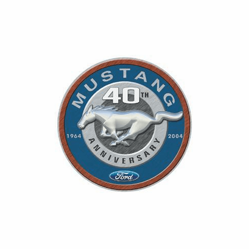 Mustang 40th Round Tin Signs