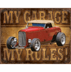 My Garage - ROD Tin Signs
