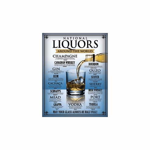National Liquors Tin Signs