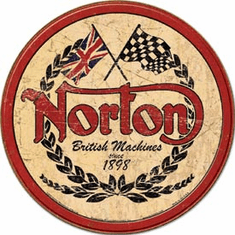 Norton - Logo Round Tin Sign