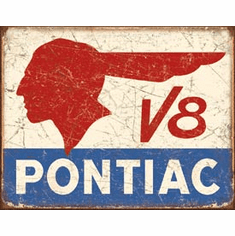 Pontiac V8 Tin Signs