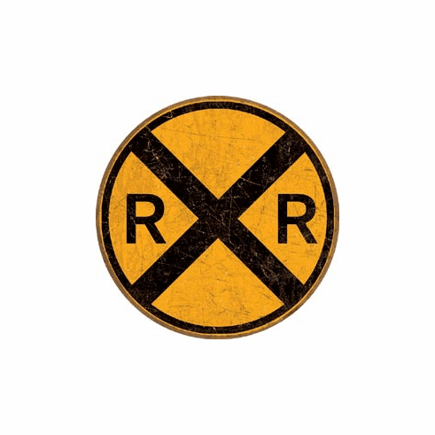 Railroad Crossing Tin Signs