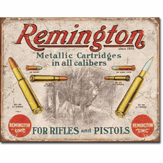 REM - For Rifles & Pistols Tin Signs