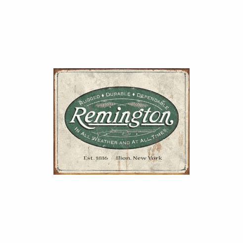 Remington - Weathered Logo Tin Signs