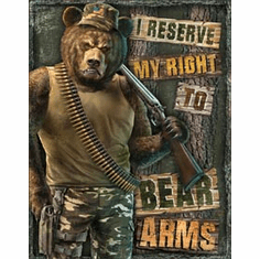 Right to Bear Arms Tin Signs