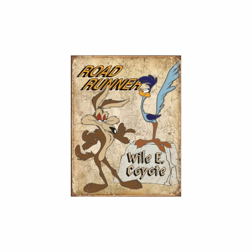 Road Runner & Wyle E Coyote Tin Signs