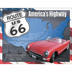 Route 66 - 1926 to 1985 Tin Signs