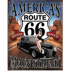 Route 66 - America's Main Street Tin Signs