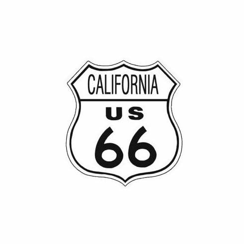 Route 66 California Tin Signs