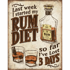 Rum Diet Tin Signs