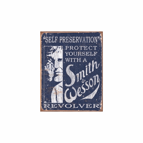 S&W - Self Preservation Tin Sign