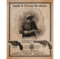 S&W - Standard of the World Tin Sign