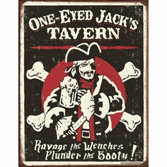 Schoenberg - One Eyed Jacks Tin Sign