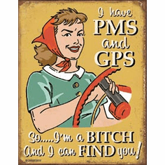 Schonberg - PMS & GPS Tin Signs