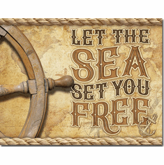 Sea - Set You Free Tin Signs
