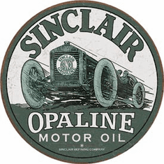 Sinclair - Race Car Tin Signs