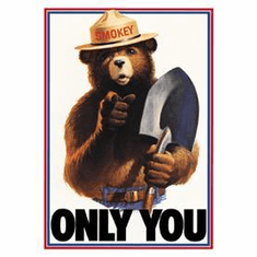 Smokey Bear - Only You Tin Sign