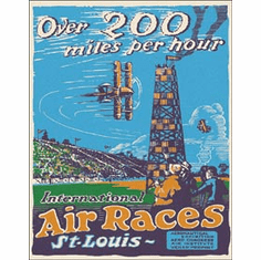 St. Louis Air Races Tin Signs