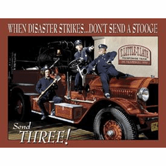 Stooges Fire Dept. Tin Sign