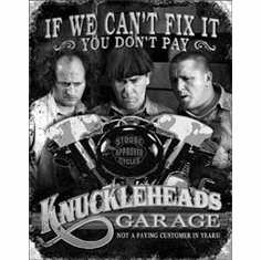 Stooges - Knuckleheads Garage Tin Sign