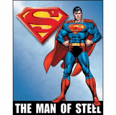 Superman - Man of Steel Tin Sign