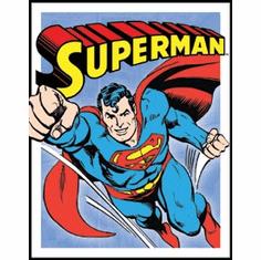 Superman - Retro Panels Tin Sign