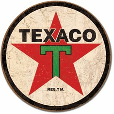 Texaco '36 ROUND Tin Signs