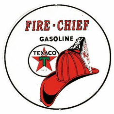 Texaco/Fire Chief Tin Sign