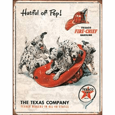 Texaco - Hatful of Pep Tin Signs