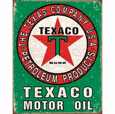Texaco Oil Weathered Tin Signs