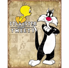 Tweety & Sylvester Retro Tin Signs