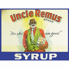 Uncle Remus Syrup Tin Sign