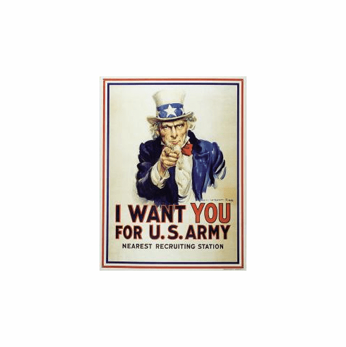 Uncle Sam I Want You Tin Sign
