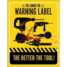 Warning Labels Tin Signs
