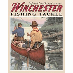 Winchester  - Fishing Tackle Tin Sign
