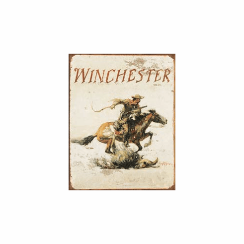 Winchester Logo Tin Sign