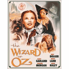 Wizard of OZ Poster Illustrated Tin Sign