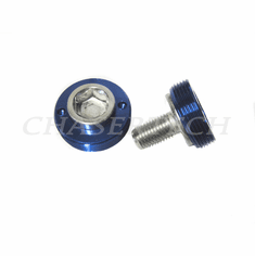 Bicycle M8 Square Tapered Crank Axle Bolts 8mm 2 Pcs/Set Blue
