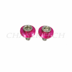 Bicycle M8 Square Tapered Crank Axle Bolts 8mm 2 Pcs/Set Hot Pink