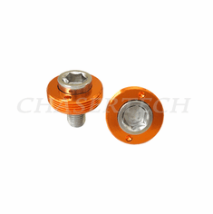 Bicycle M8 Square Tapered Crank Axle Bolts 8mm 2 Pcs/Set Orange