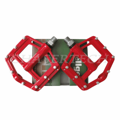"Wellgo MG-21 BMX Bicycle Bike Magnesium Pedals 9/16"" Red"