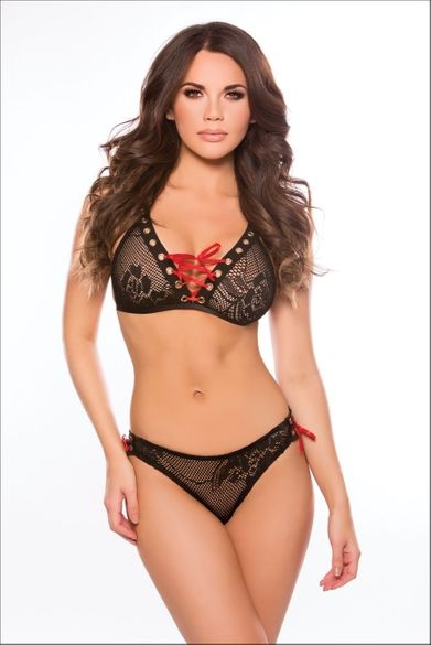 Allure 12-0022K Sleek And Sexy Bralette And Panty