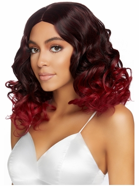 Curly Ombre Long Bob Wig