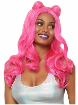 Beachy Waves Long Wig With Buns