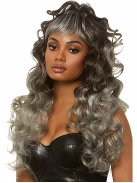 Long Curly Wispy Bang Wig