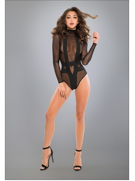 Adore A1017 Seductively Sheer & Cheeky Bodysuit