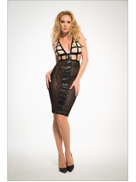 Adore A1038 Almost Nude Elegance With A Twist, Mesh Dress